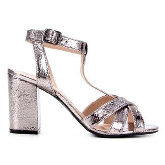 Sandália Shoestock Tiras Cruzadas Salto Alto Feminina