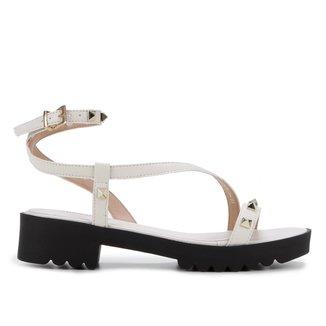 Sandália Shoestock Tratorada Rebites Feminina