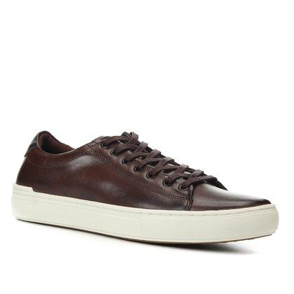 Sapatênis Couro Shoestock Básico Liso Masculino