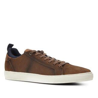 Sapatênis Couro Shoestock Básico Masculino