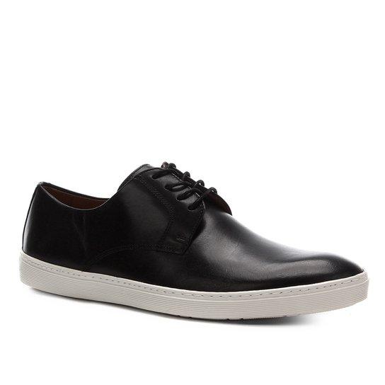Sapatênis Couro Shoestock Casual Masculino - Preto