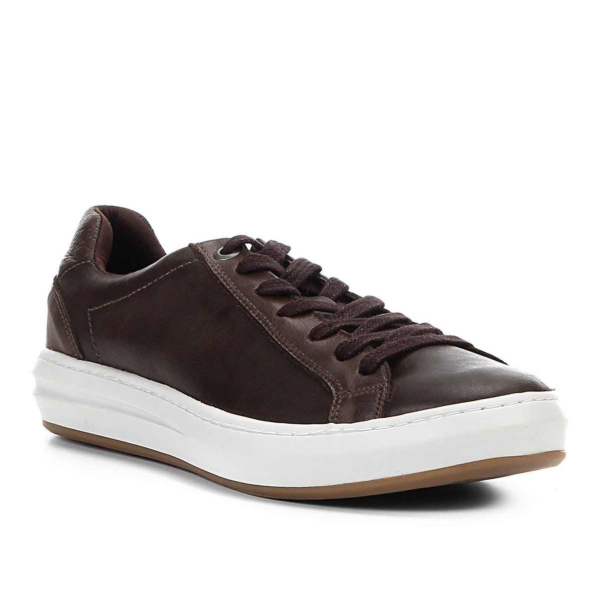 938a9dd2d0 Sapatênis Couro Shoestock Craquele Masculino