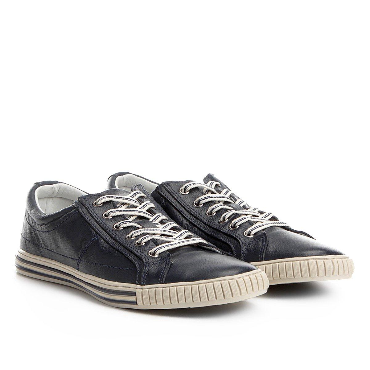 06c7b2042a Sapatênis Couro Shoestock Listras Masculino - Compre Agora