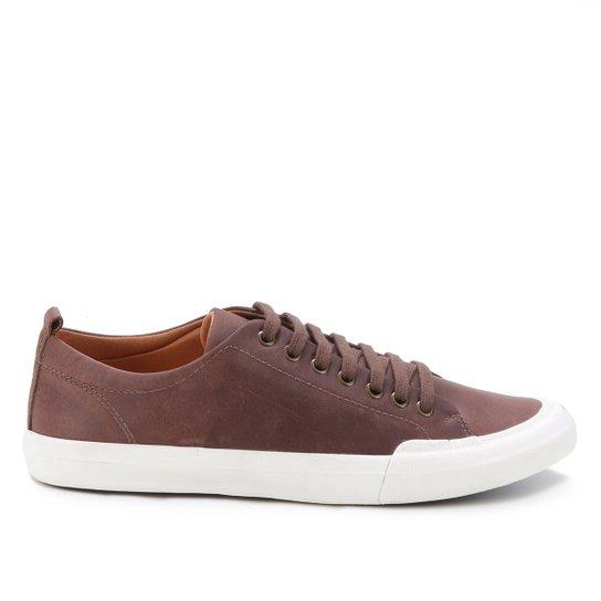 Sapatênis Couro Shoestock Masculino - Tabaco