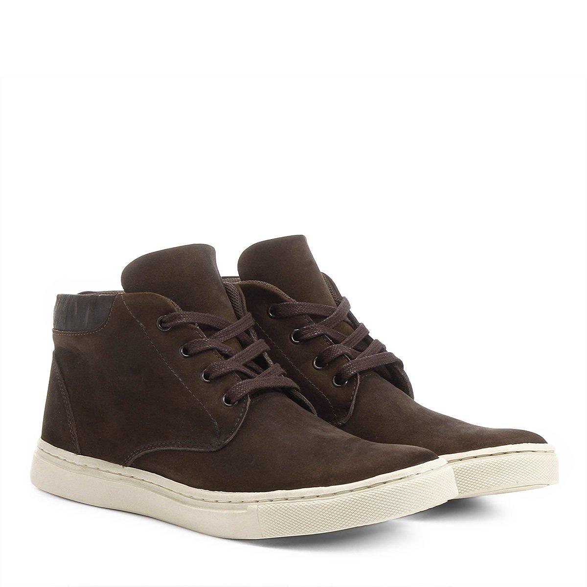 3bc119665a Sapatênis Couro Shoestock Nobuck Cano Alto Masculino - Compre Agora ...