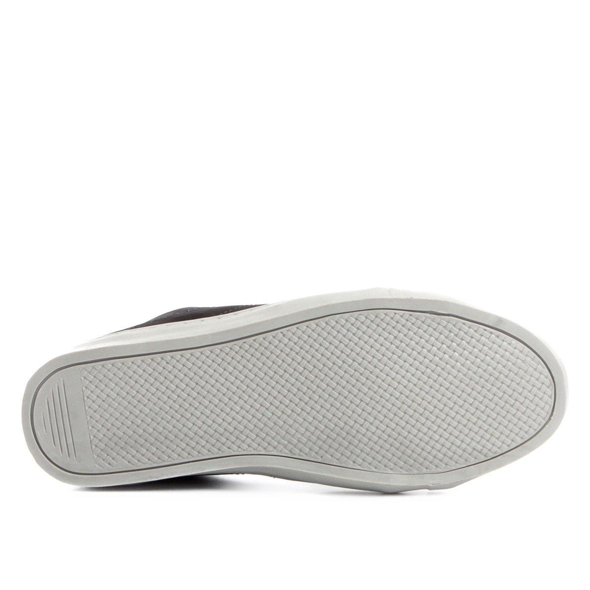 Sapatênis Couro Shoestock Nobuck Color Masculino - Preto - Compre ... 0c126fcc4c221