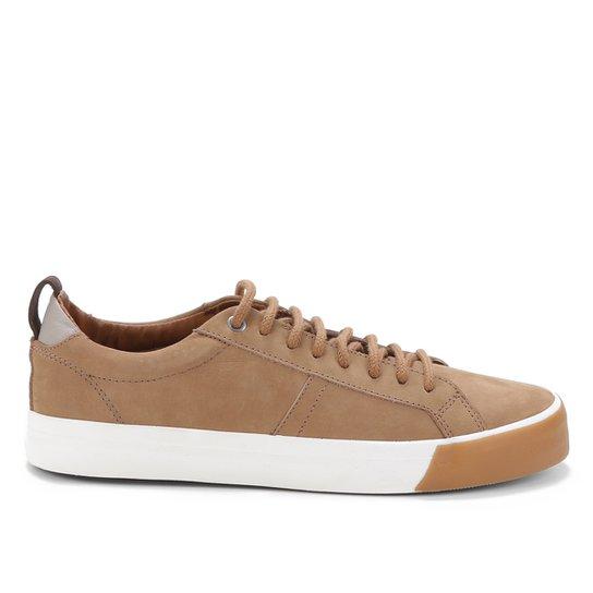 Sapatênis Couro Shoestock Nobuck Masculino - Areia