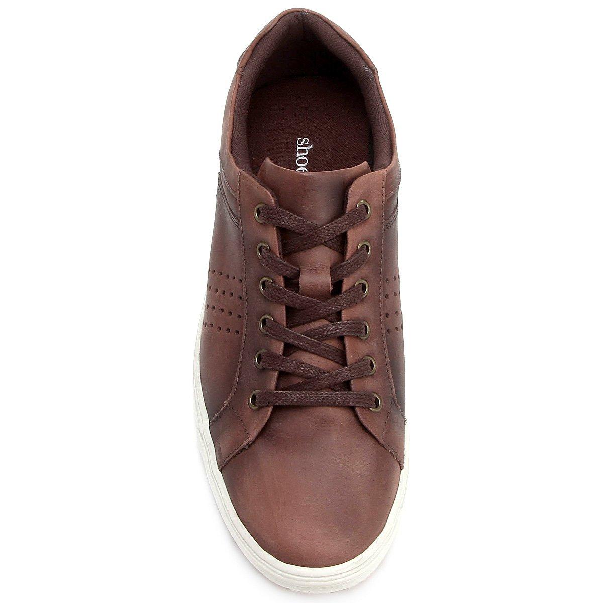 139f201da8 Sapatênis Couro Shoestock Perfuros Masculino - Compre Agora