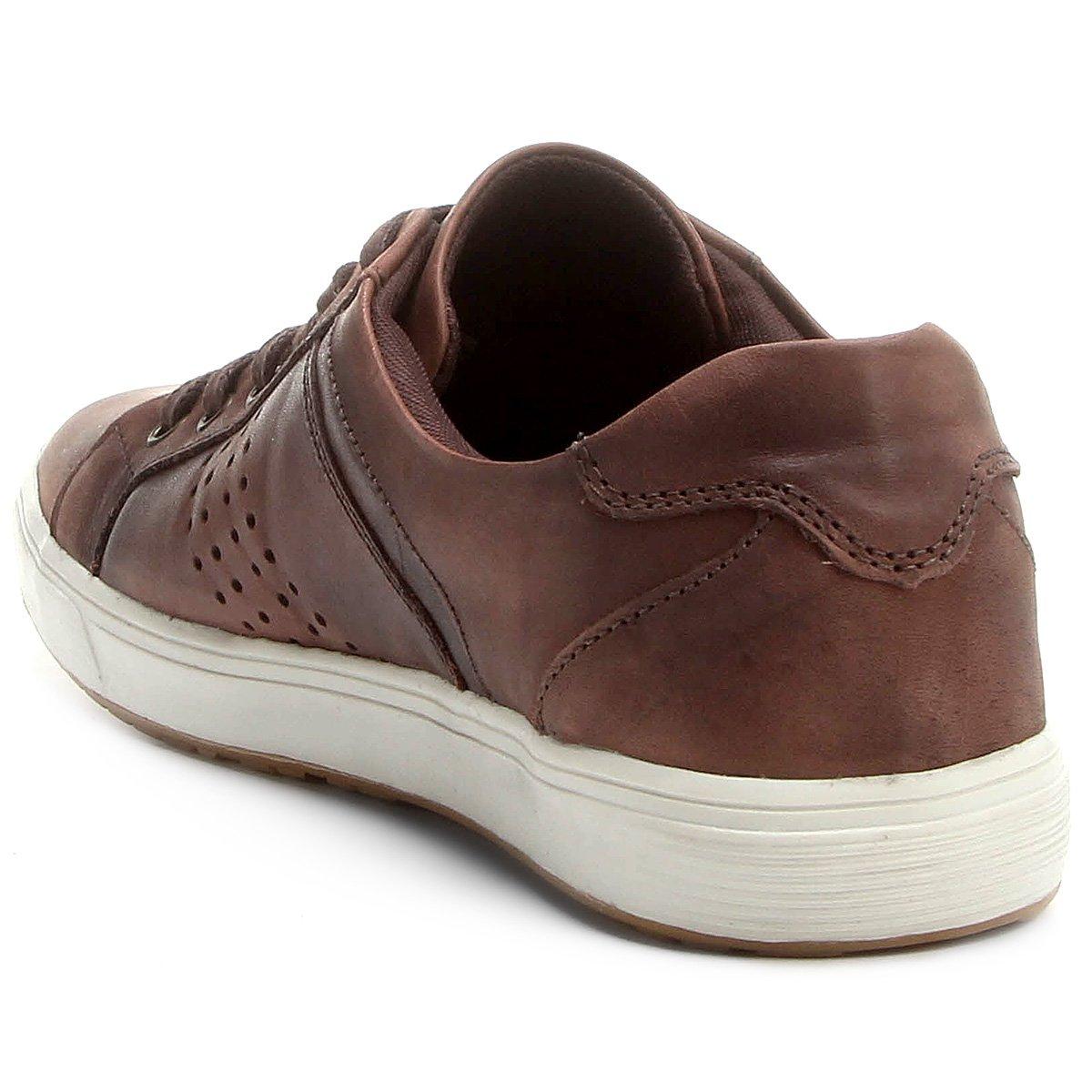 bd9a0f070d Sapatênis Couro Shoestock Perfuros Masculino - Compre Agora