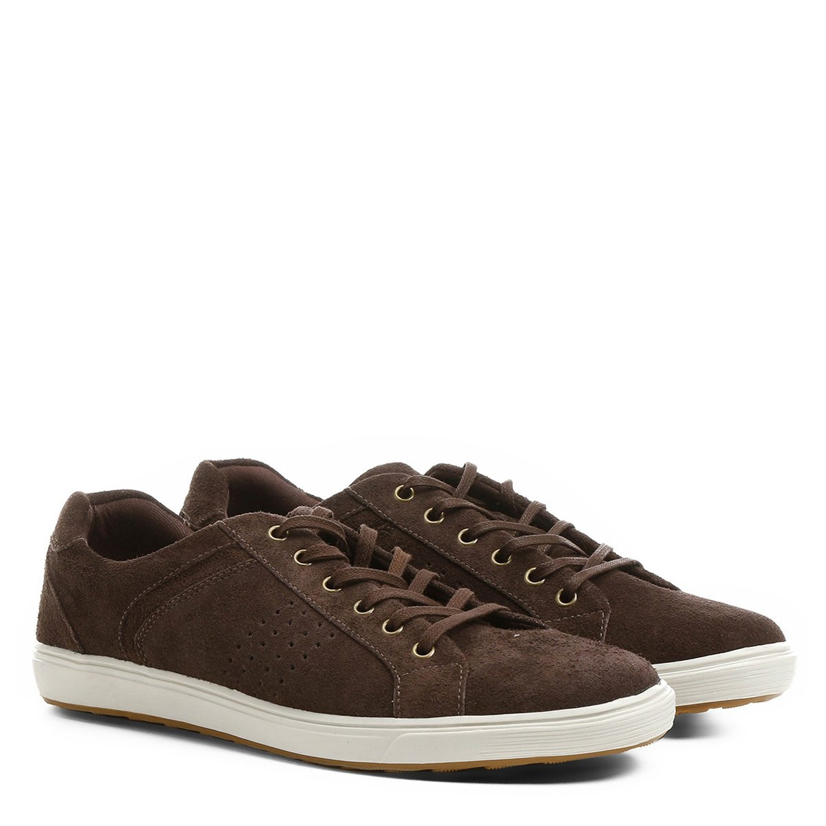 5addb27a6d9 Sapatênis Couro Shoestock Perfuros Masculino - Compre Agora