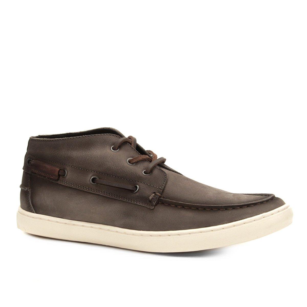a64f329c7 Sapatênis Couro Shoestock Sider Stoned Cano Alto Masculino   Shoestock