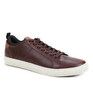 Sapatênis Couro Shoestock Textura Masculino