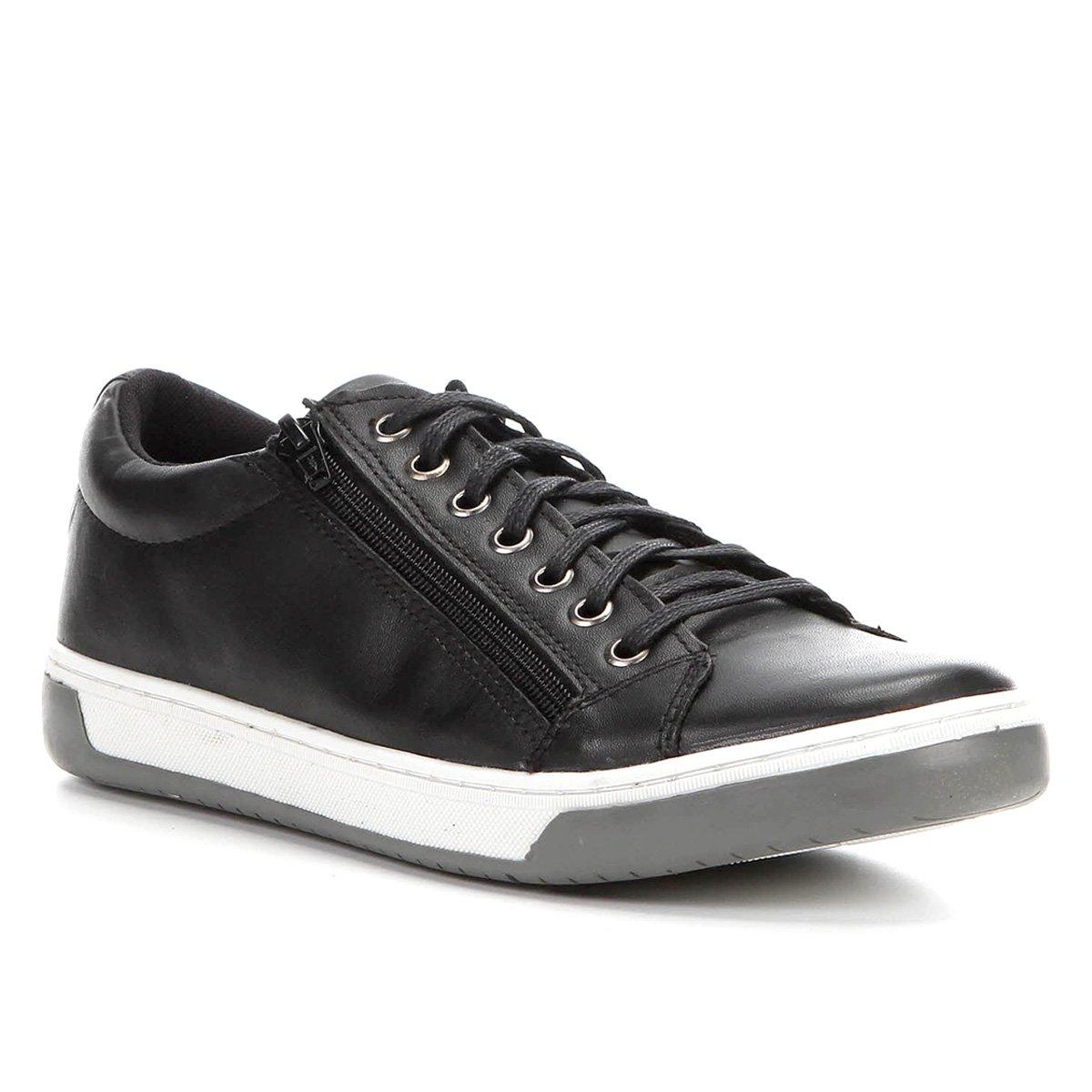 4dfbdc1316 Sapatênis Couro Shoestock Zíper Masculino - Compre Agora