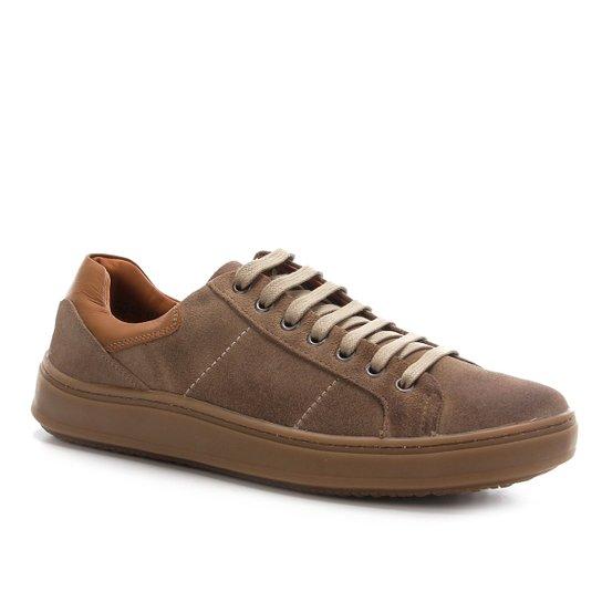 Sapatênis Shoestock Camurça Basic Masculino - Areia