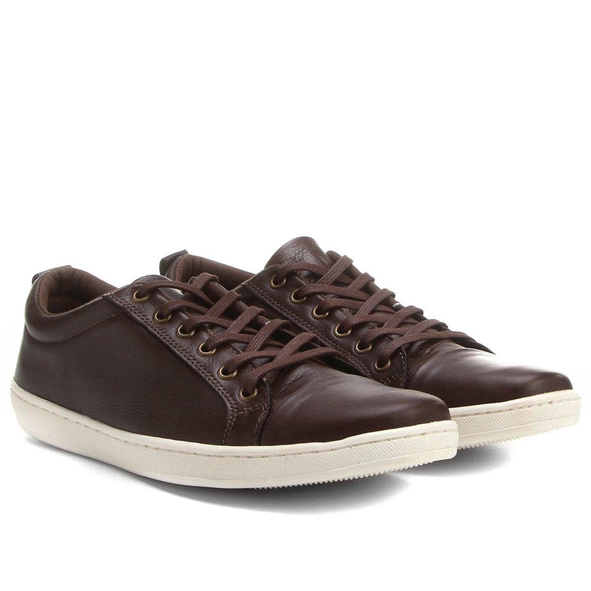 3f8765b4a2 Sapatênis Shoestock Couro - Compre Agora