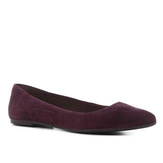 Sapatilha Couro Shoestock Bico Fino Basic Feminina