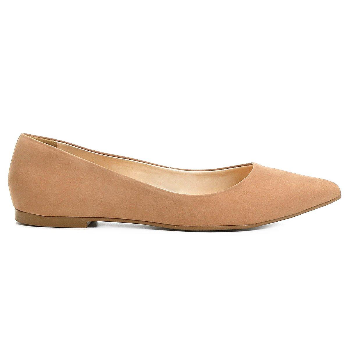 2127b0e88b6 Sapatilha Couro Shoestock Bico Fino Nobuck Feminina - Compre Agora ...