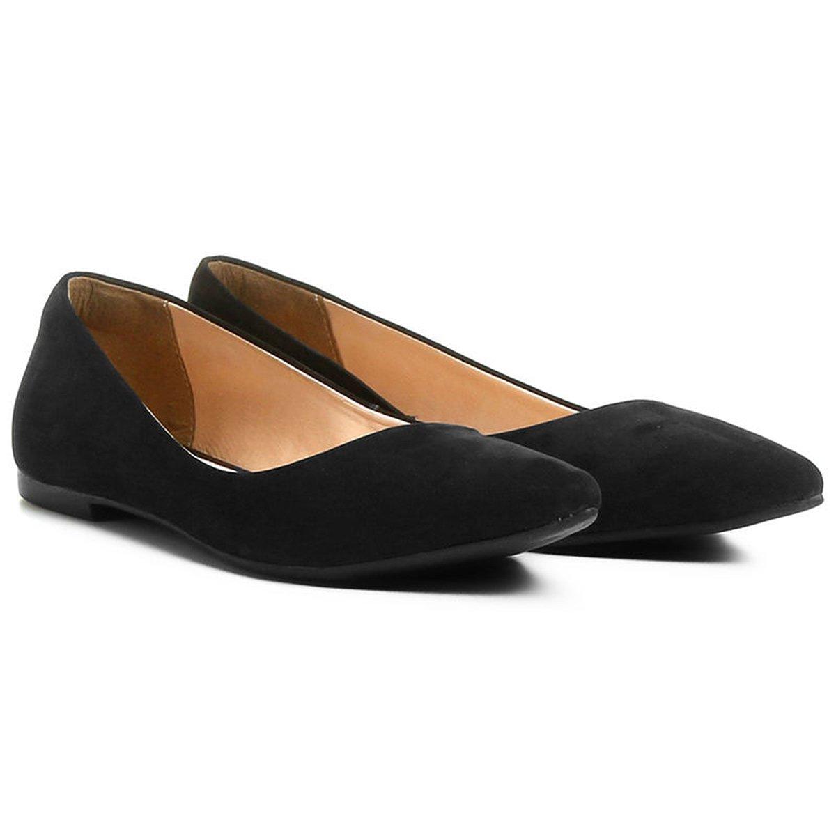4f05a0fca6 Sapatilha Couro Shoestock Bico Fino Nobuck Feminina - Compre Agora ...