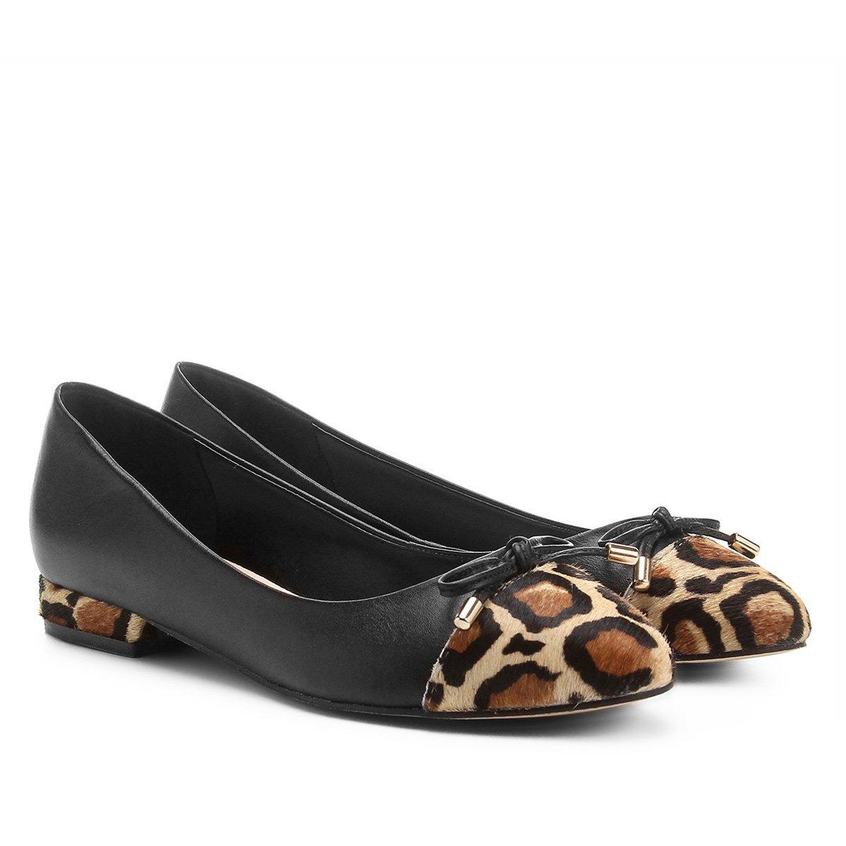 4581925516 Sapatilha Couro Shoestock Biqueira Onça - Compre Agora