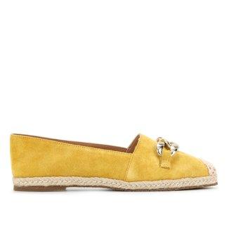 Sapatilha Couro Shoestock Camurça Corrente Feminina