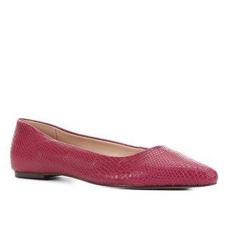 Sapatilha Couro Shoestock Cobra Feminina