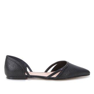 Sapatilha Couro Shoestock Cobra Sensation Feminina