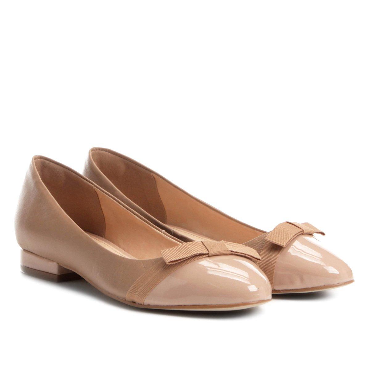 e59e0182f Sapatilha Couro Shoestock com Laço de Gorgurão Feminina | Shoestock
