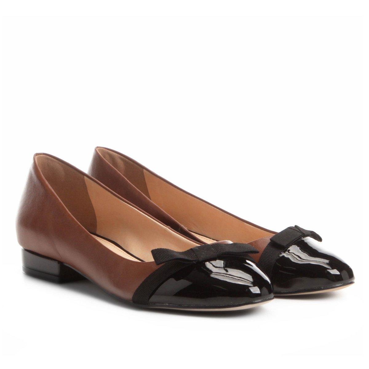 616e0bf60 Sapatilha Couro Shoestock com Laço de Gorgurão Feminina - Caramelo    Shoestock