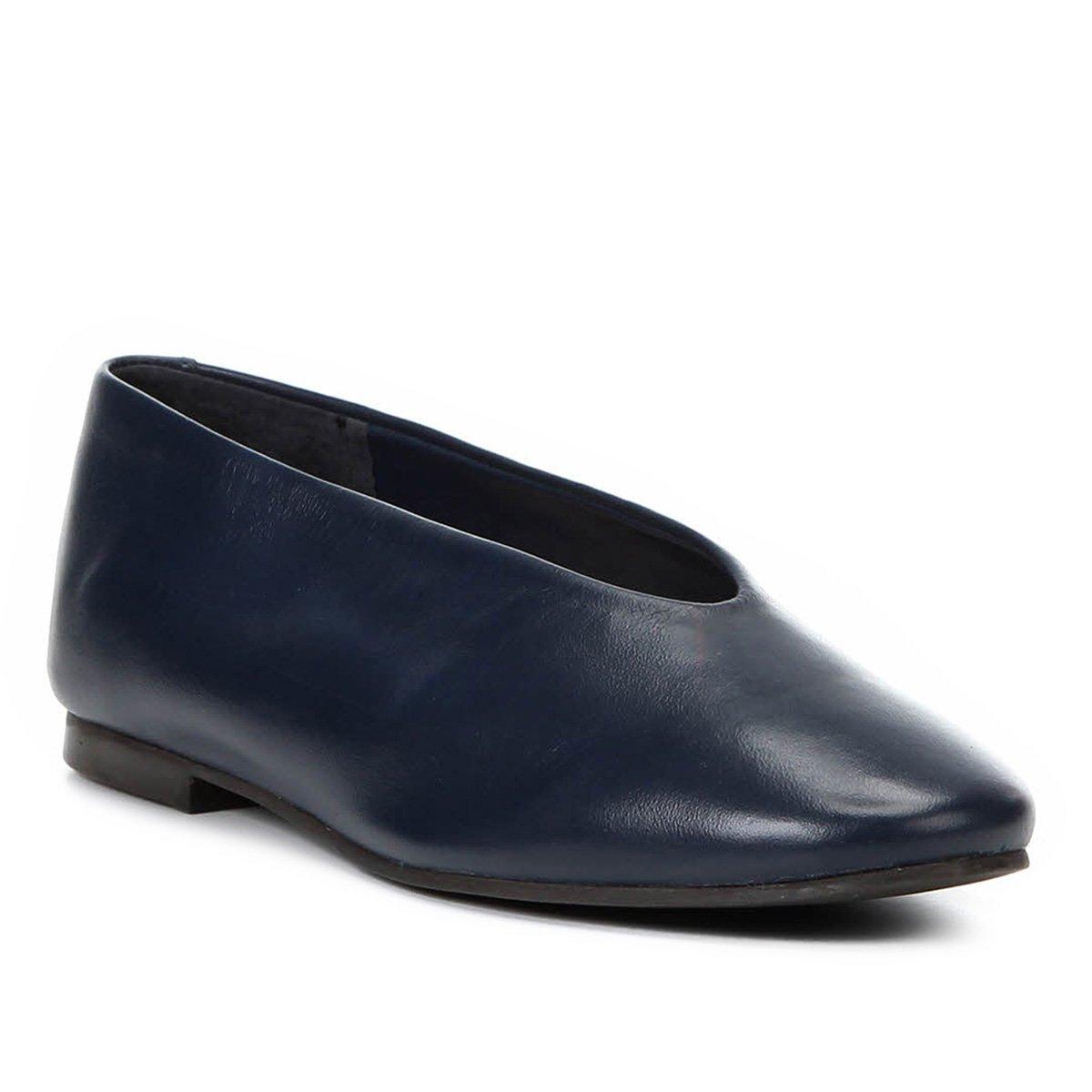 63e1cda2f Sapatilha Couro Shoestock Confort Feminina - Marinho | Shoestock