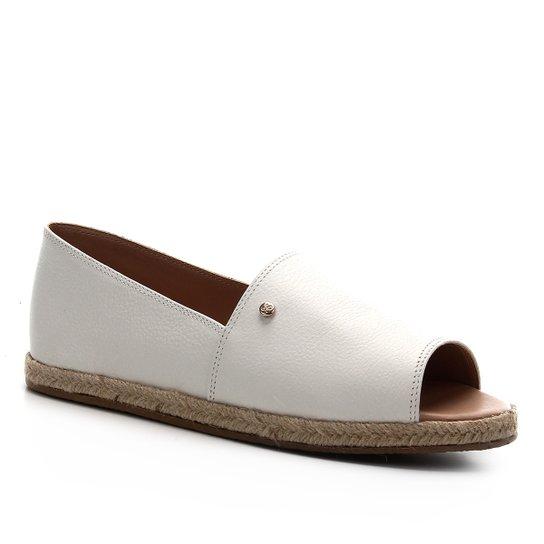 Sapatilha Couro Shoestock Confort Feminina - Branco