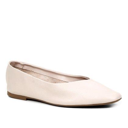 Sapatilha Couro Shoestock Confort Sem Forro Feminina