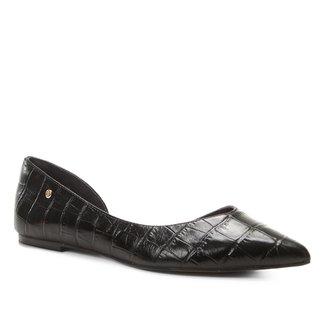 Sapatilha Couro Shoestock Croco High Vamp Feminina