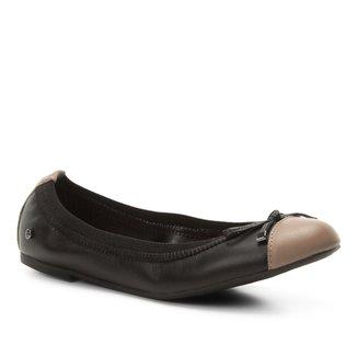 Sapatilha Couro Shoestock Elástico Laço Feminina