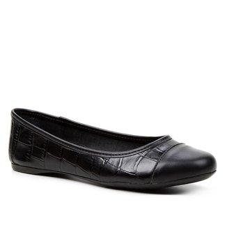 Sapatilha Couro Shoestock For You Croco Feminina