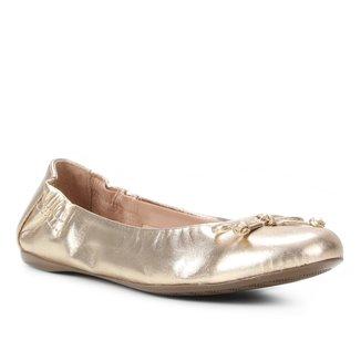 Sapatilha Couro Shoestock For You Elástico Feminina