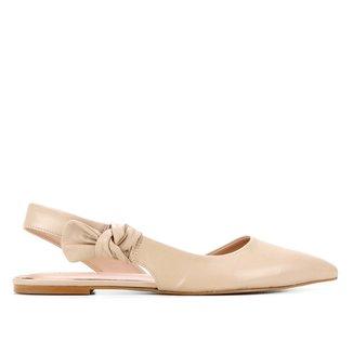 Sapatilha Couro Shoestock Laço Feminina