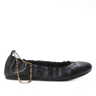 Sapatilha Couro Shoestock Medalha Signo Feminina