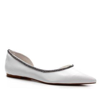 Sapatilha Couro Shoestock Noiva Feminina