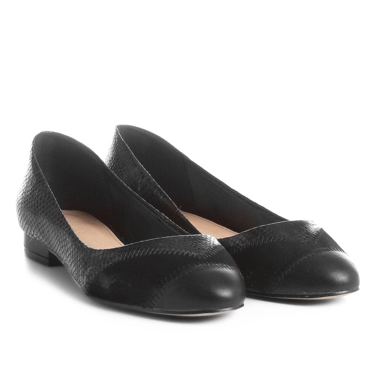 c46249b7440 Sapatilha Couro Shoestock Patchwork Feminina - Compre Agora