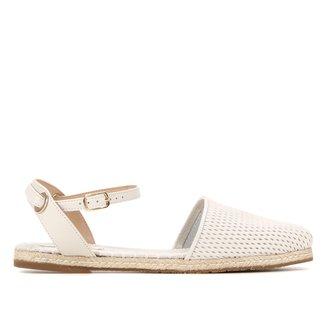 Sapatilha Couro Shoestock Recortes Feminina