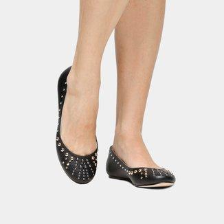 Sapatilha Couro Shoestock Tachas Feminina