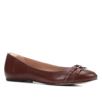 Sapatilha Couro Shoestock Tiras Feminina