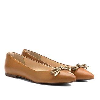 Sapatilha Shoestock Bico Fino Cordão Feminina