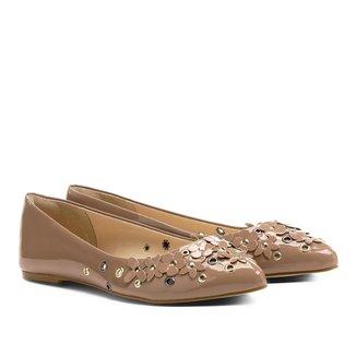 Sapatilha Shoestock Bico Fino Flores Feminina