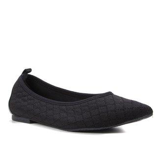 Sapatilha Shoestock Bico Fino For You Tricot Matelassê Feminina