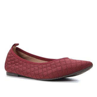 Sapatilha Shoestock Bico Fino For You Tricot Matelassê Feminina