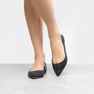 Sapatilha Shoestock Bico Fino Hot Fix Feminina