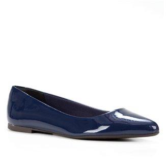 Sapatilha Shoestock Bico Fino Lisa Verniz Feminina