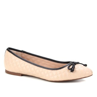 Sapatilha Shoestock Bico Fino Matelasse Laço Feminina