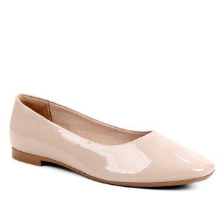 Sapatilha Shoestock Bico Quadrado Verniz Feminina